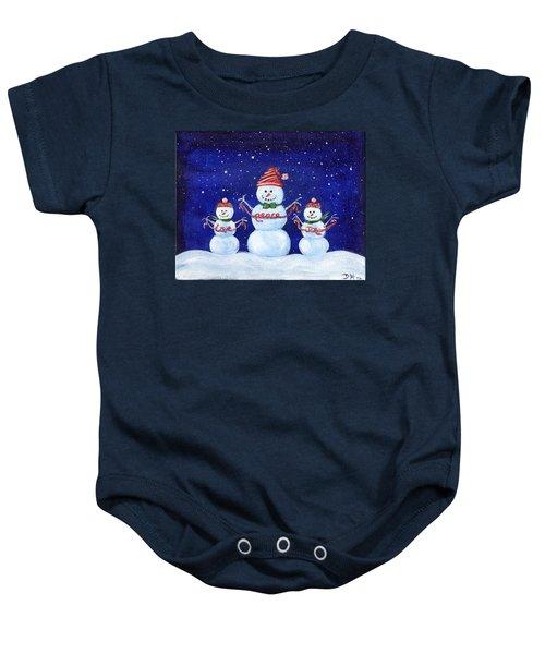 Snowmen Baby Onesie