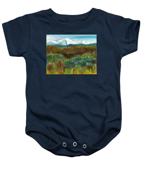 Spanish Peaks Evening Baby Onesie
