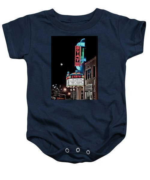 Baby Onesie featuring the photograph State Theater by Jim Thompson