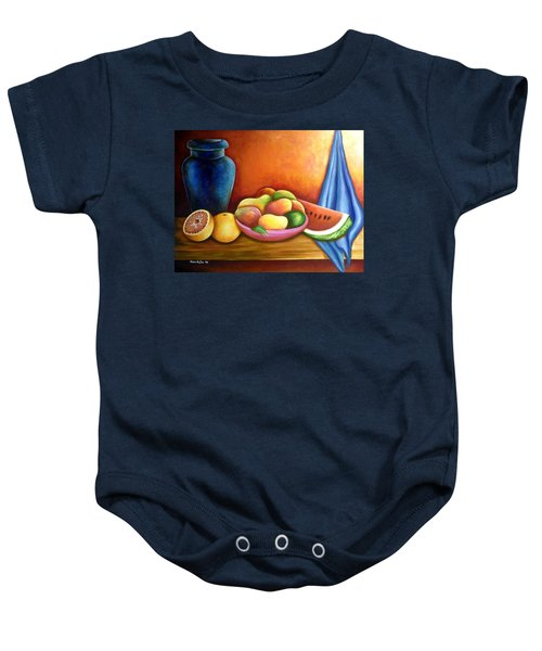 Still Life Of Fruits Baby Onesie