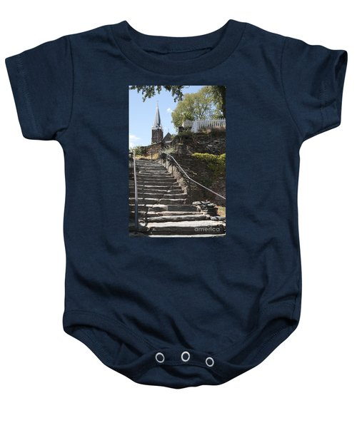 Stone Steps And Saint Peters Church At Harpers Ferry Baby Onesie