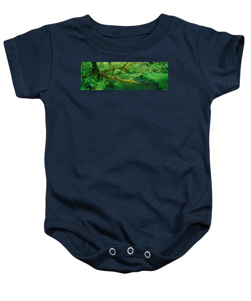 Stream Flowing Through A Rainforest Baby Onesie by Panoramic Images