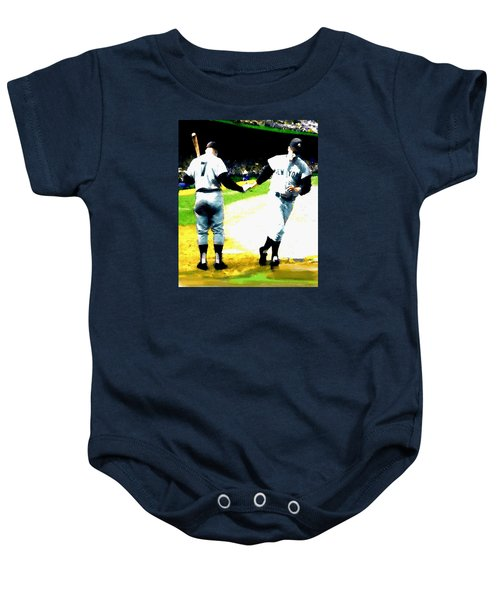 Summer Of The Gods  Iv 1961 Mickey Mantle Baby Onesie by Iconic Images Art Gallery David Pucciarelli