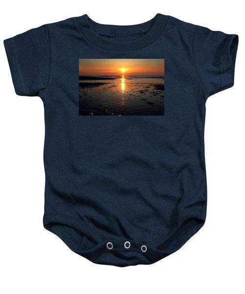 Sundown At The North Sea Baby Onesie
