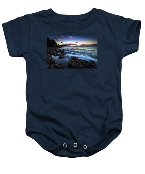 Sunset On Ber Beach Galicia Spain Baby Onesie