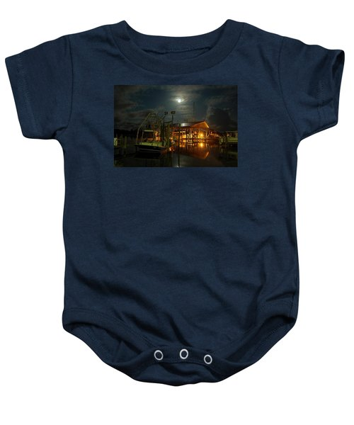 Super Moon At Nelsons Baby Onesie
