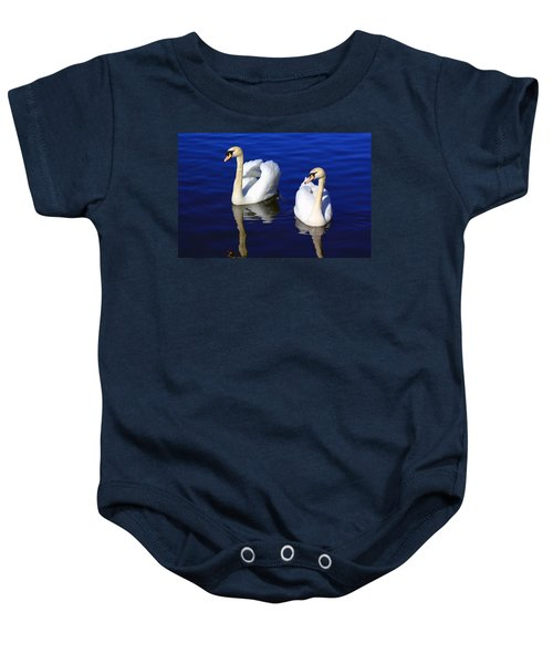 Swans On The Lake Baby Onesie