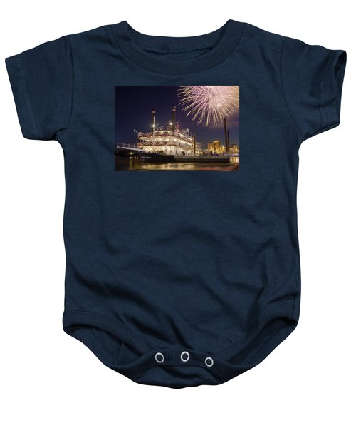 Tall Stacks Baby Onesie