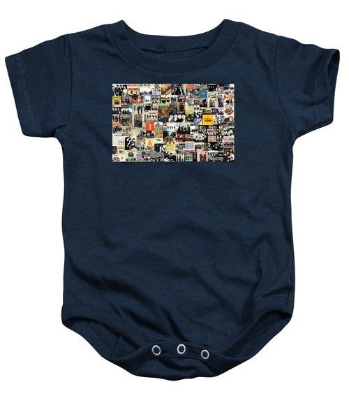 The Beatles Collage Baby Onesie