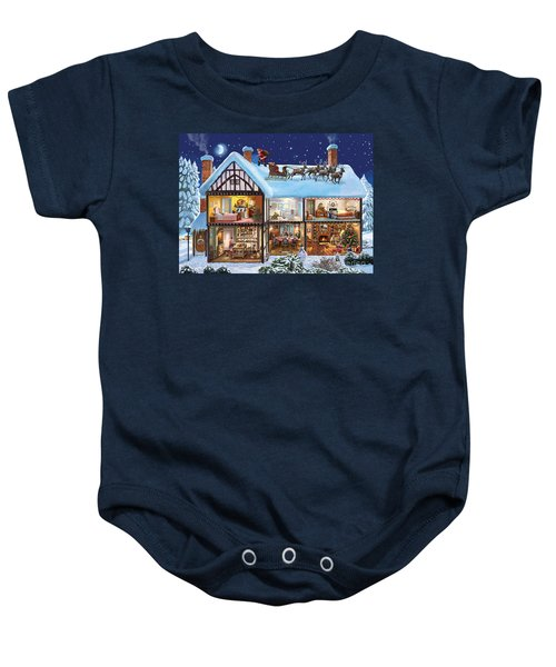 Christmas House Baby Onesie