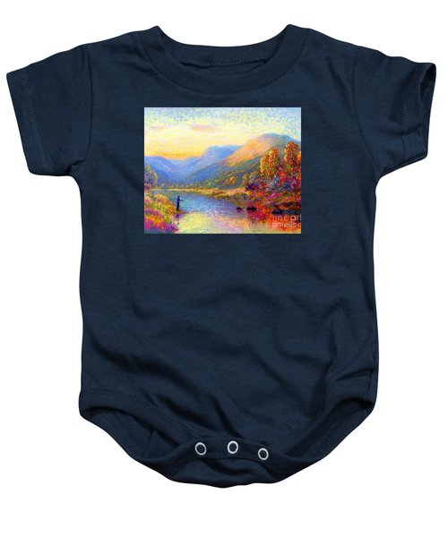 Fishing And Dreaming Baby Onesie