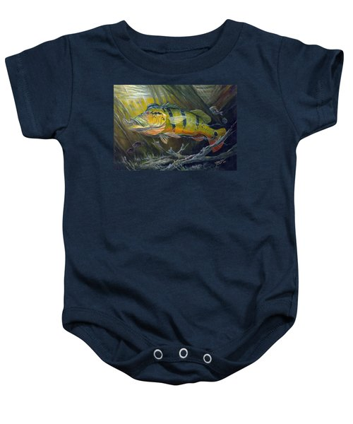 The Great Peacock Bass Baby Onesie