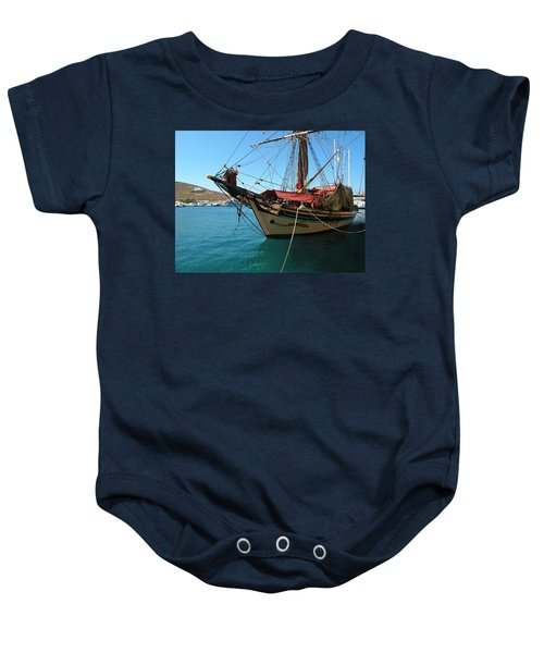 The Pirate Ship  Baby Onesie