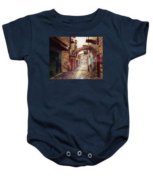 The Road To The Cross  Jerusalem Baby Onesie