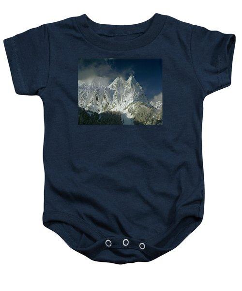 1m4503-three Peaks Of Mt. Index Baby Onesie