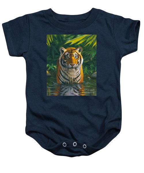 Tiger Pool Baby Onesie