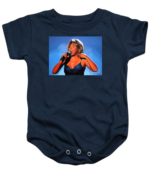 Tina Turner Queen Of Rock Baby Onesie