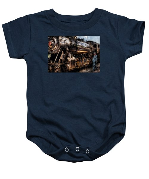 Train - Engine -  Now Boarding Baby Onesie