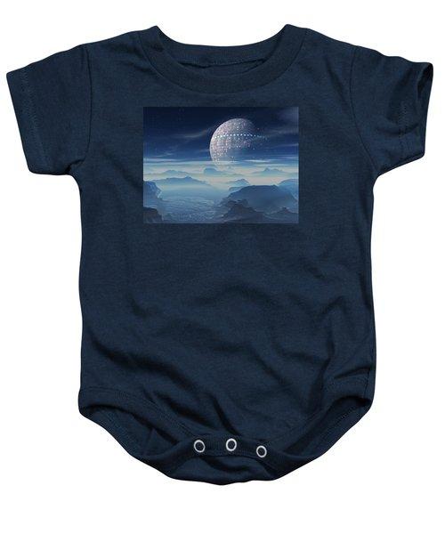 Tranus Alien Planet With Satellite Baby Onesie