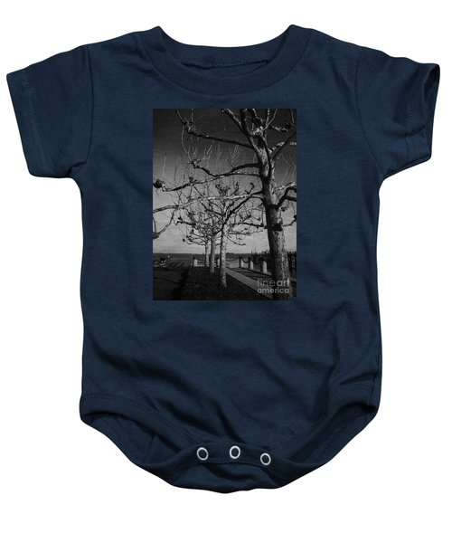Tree In A Row  Baby Onesie