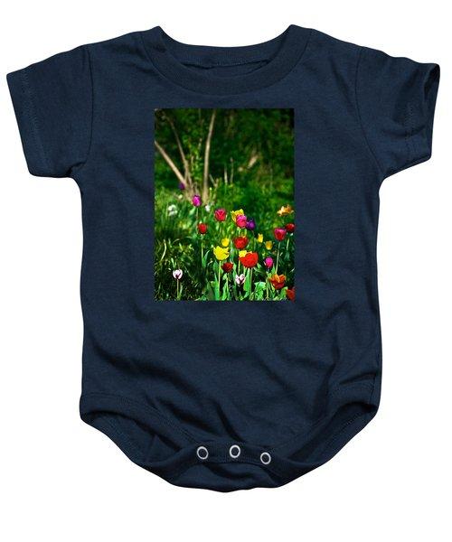 Tulip Rainbow Baby Onesie