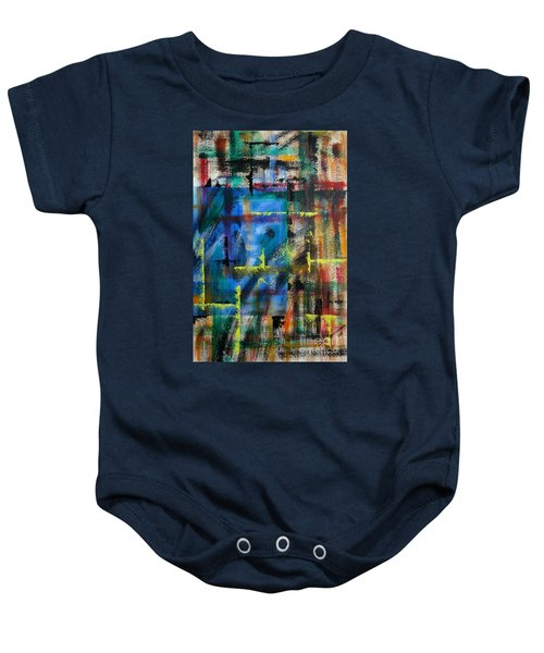 Blue Wall Baby Onesie