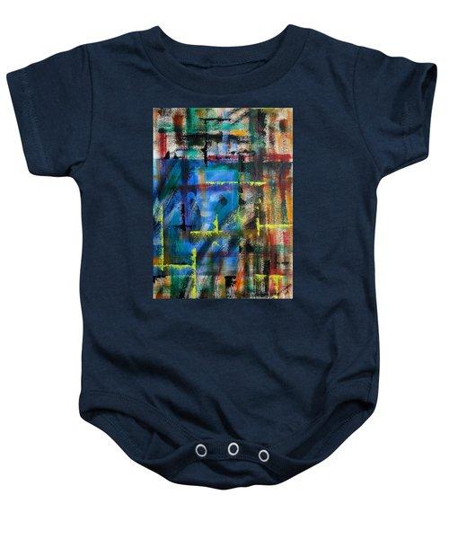 Blue Wall Baby Onesie