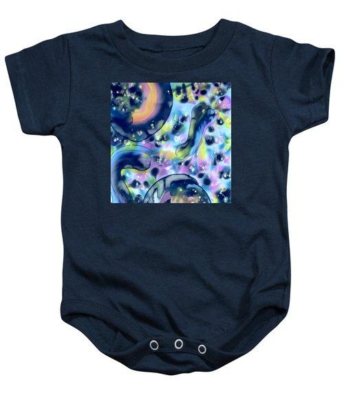 Dark Side Of The Moon Baby Onesie