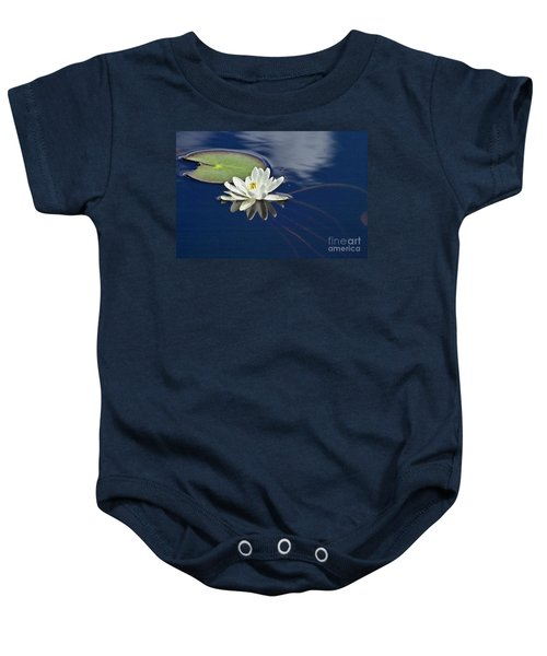 Baby Onesie featuring the photograph White Water Lily by Heiko Koehrer-Wagner