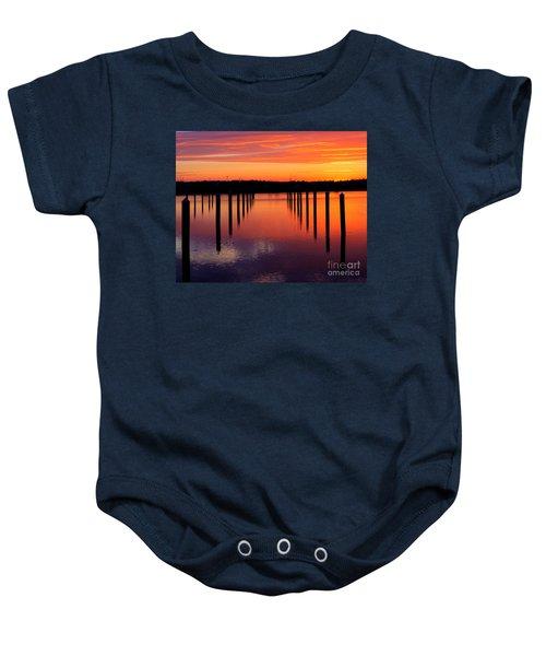 Winchester Bay Sunset Baby Onesie
