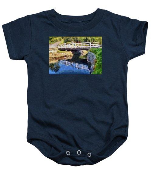 Wooden Bridge Baby Onesie