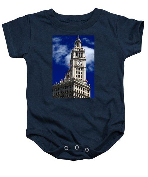 Wrigley Building Clock Tower Baby Onesie