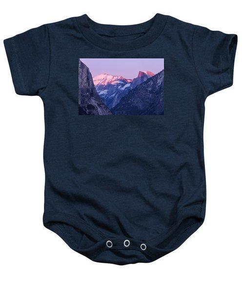Yosemite Valley Panorama Baby Onesie