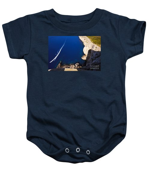 Boat In The Sea Baby Onesie