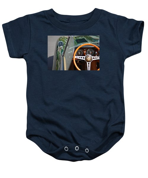 Baby Onesie featuring the photograph Classic Green Jaguar Artwork by Shane Kelly