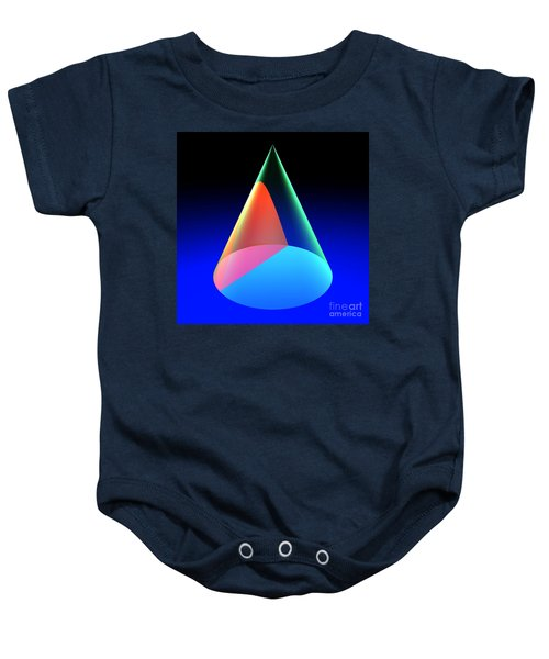 Conic Section Hyperbola 6 Baby Onesie