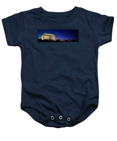 Lincoln Memorial At Sunset Baby Onesie