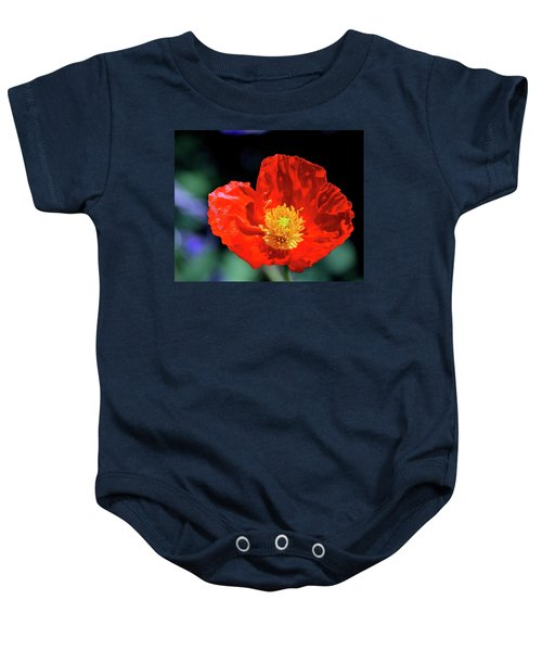Orange Poppy Baby Onesie