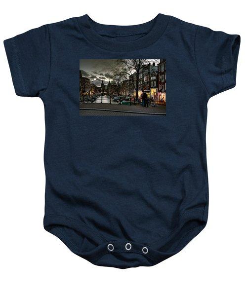 Prinsengracht And Spiegelgracht. Amsterdam Baby Onesie