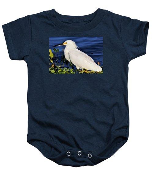 Profile Of A Snowy Egret Baby Onesie