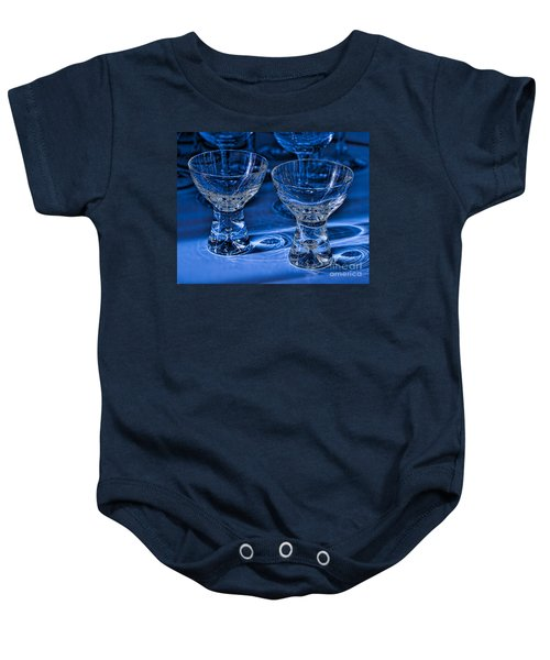Reflections In Blue Baby Onesie