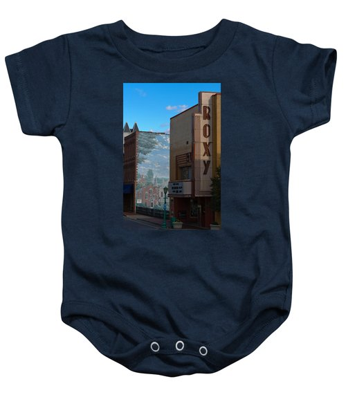 Roxy Theater And Mural Baby Onesie