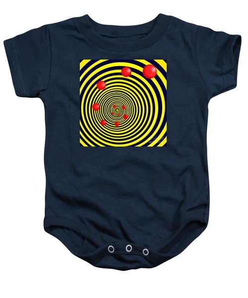 Summer Red Balls With Yellow Spiral Baby Onesie