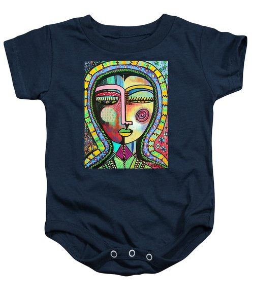 -talavera Virgin Of Guadalupe Protection Baby Onesie