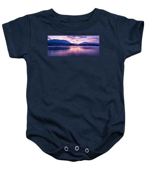 Twilight Above A Fjord In Norway With Beautifully Colors Baby Onesie