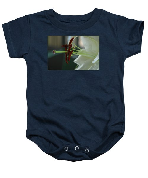 White Tiger Lily II Baby Onesie
