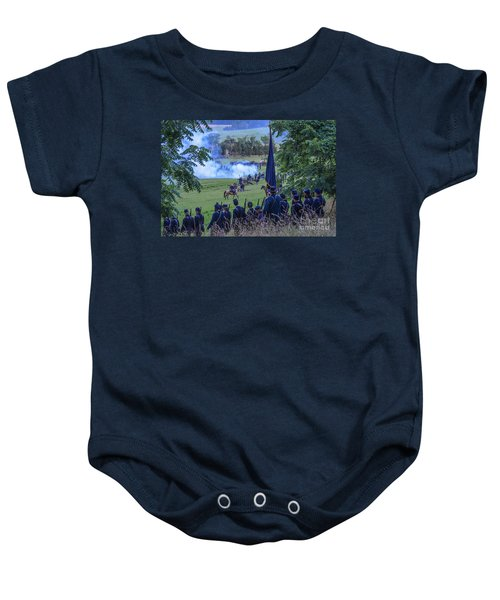 Gettysburg Union Artillery And Infantry 7457c Baby Onesie