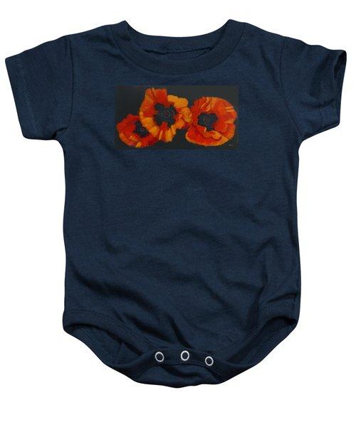 3 Poppies Baby Onesie