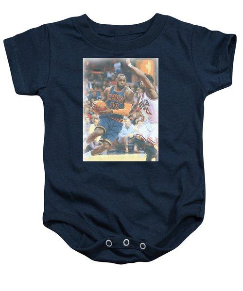 Cleveland Cavaliers Lebron James 2 Baby Onesie