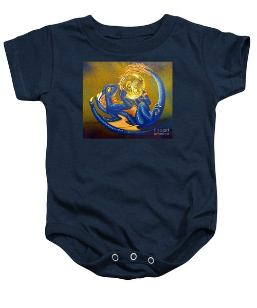 Dragon And Captured Fairy Baby Onesie